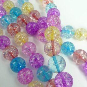 Multifarvede krystalperler 14 mm