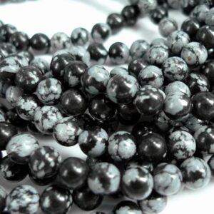 Snowflake obsidian 6mm
