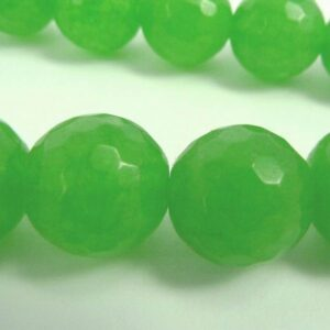 'Jade', grønne facetterede 10mm.