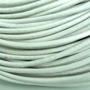 Lædersnøre 'hvid' 2mm (pris pr. meter)