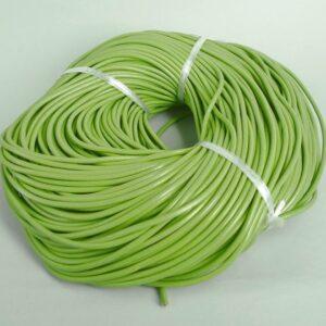 Lædersnøre grøn 3mm (pris pr. meter)