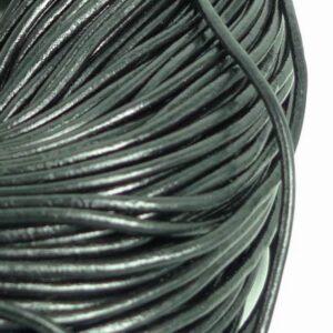 Lædersnøre sort 3mm (pris pr. meter)