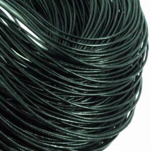 Lædersnøre sort 1mm (pris pr. meter)
