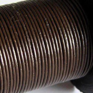 5 meter Lædersnøre brun 1mm