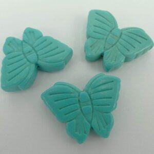 Imiteret turkis sommerfugl 1stk