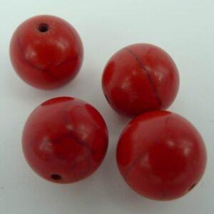 4stk Rød magnesit 12 mm