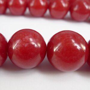Kvarts, rød 18mm(1stk)