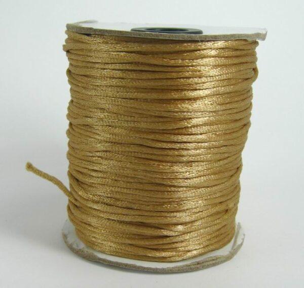 10 meter Gyldenbrun satinsnor 2½mm