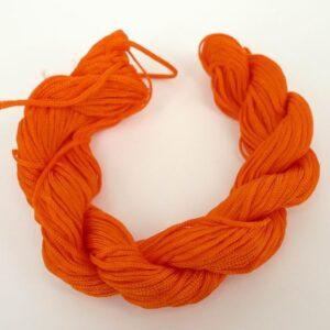 Nylon snøre orange, 1,2 mm (pris pr. bundt)