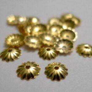 Rillede FG perlekapper 6mm(20stk)
