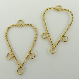 FG chandeliers, snoede hjerter(2stk)