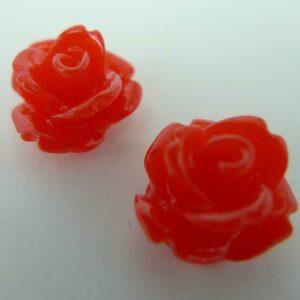10mm Orangerøde roser(10stk)