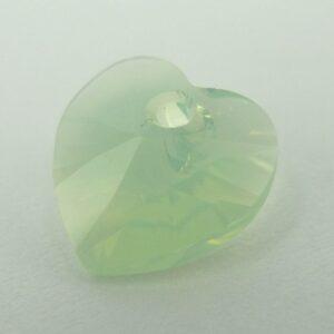 Swarovski hjerte, chrysolite opal(1stk)