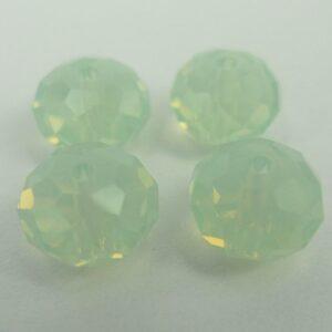 Swarovski facet rondeller, chrysolite opal 8x6mm