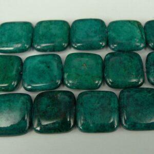 2. sortering - Flade kvadratiske stenperler 15mm