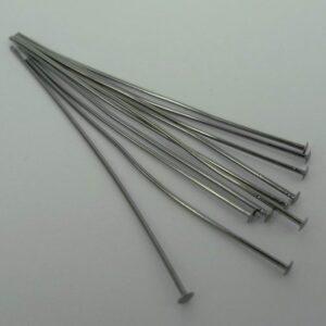 Grå perlestave 0,8mm(10stk)