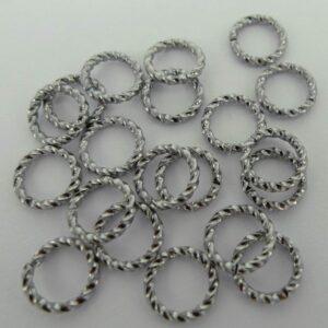 Snoede ringe grå 8mm(20stk)