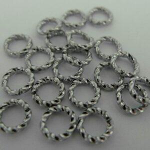 Snoede ringe grå 6mm(20stk)