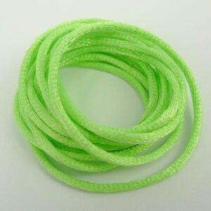 Gulgrøn satinsnor 2½mm(pris pr. meter)