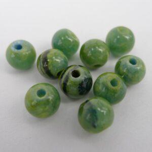 Mashan'Jade', gul-grøn 8mm(8stk)