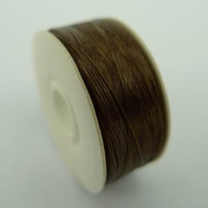 Perletråd nylon brun, size 00