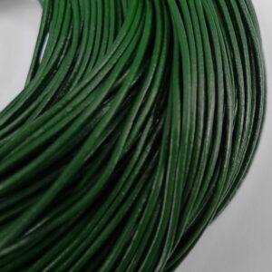 Lædersnøre grøn 1mm(pris pr. meter)