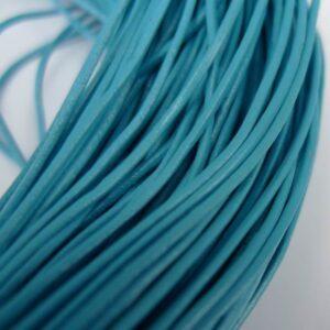 Lædersnøre lys blå 1mm(pris pr. meter)
