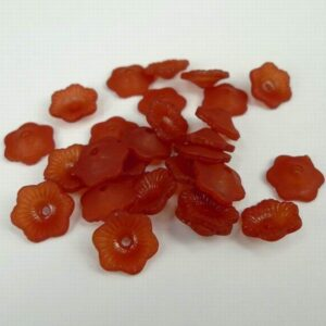 11mm sienna blomster i acryl(25stk)