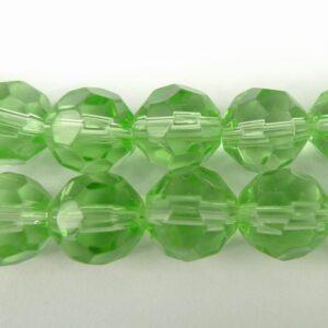 Facet glasperler 10mm, lysegrønne