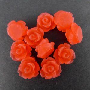 10mm roser Ice Red(10stk)