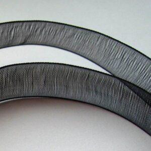 Sort organzabånd 10mm(rulle)