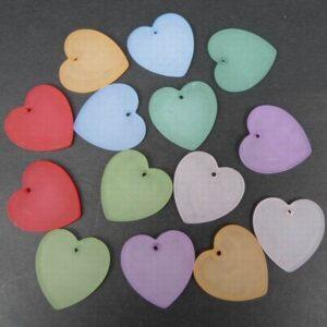Mixcolor Hjerter i acryl (14stk)