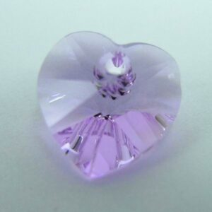 Swarovski hjerte, violet(1stk)