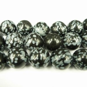 Snowflake obsidian 14mm