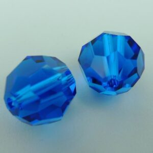 Swarovski rund facet, capri blue 10mm(2stk)