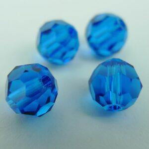 Swarovski rund facet, capri blue 6mm(4stk)