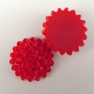 Dahlia 15mm, Rød