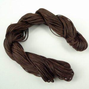 Nylon snøre mørkebrun, 1,2 mm. (pris pr. bundt) (knyttesnor)