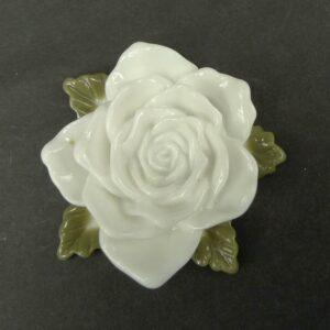 Stor hvid resin rose
