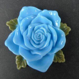 Stor lyseblå resin rose