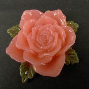 Stor lys koral resin rose