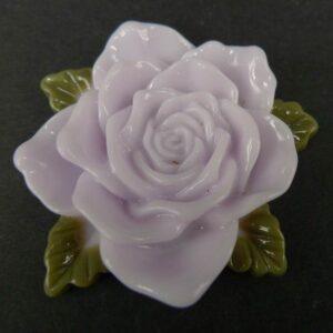 Stor lavendelgrå resin rose