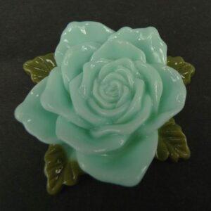 Stor lys aqua resin rose