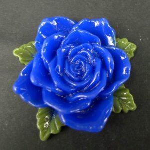 Stor blå resin rose