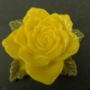Stor gul resin rose