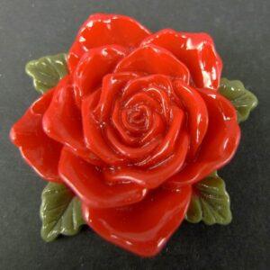 Stor rød resin rose