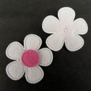 Tekstil blomster deep pink