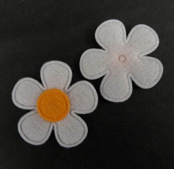 Tekstil blomster orange