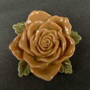 Stor lys brun resin rose
