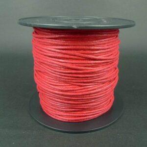 Bomuldssnøre, rød 2mm(knyttesnor)